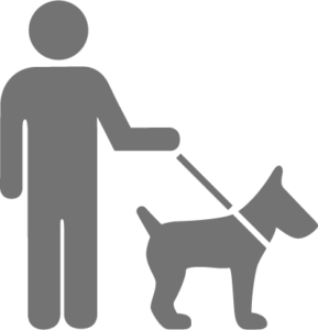 Zeichnung Mann mit Hund